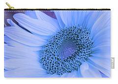Daisy Blue Carry-all Pouch by Marie Leslie