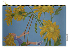 Carry-all Pouch featuring the painting Daisy Days by Karen Ilari