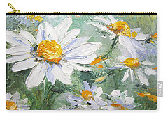 Daisy Delight Palette Knife Painting Carry-all Pouch