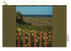 Daisy Dune Fence Delray Beach Florida Carry-all Pouch