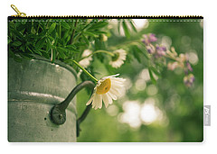 Carry-all Pouch featuring the photograph Daisy Escape by Jani Freimann