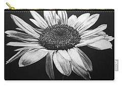 Carry-all Pouch featuring the drawing Daisy I by Marna Edwards Flavell