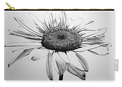 Carry-all Pouch featuring the drawing Daisy II by Marna Edwards Flavell