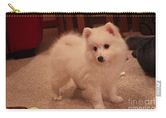 Carry-all Pouch featuring the photograph Daisy - Japanese Spitz by David Grant
