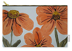 Daisy-like Flowers Carry-all Pouch