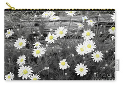 Carry-all Pouch featuring the photograph Daisy Patch by Benanne Stiens