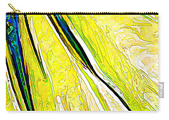 Daisy Petal Abstract In Lemon-lime Carry-all Pouch by ABeautifulSky Photography