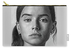 Daisy Ridley Pencil Drawing Portrait Carry-all Pouch
