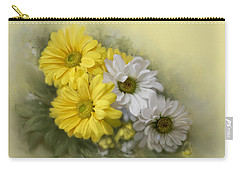 Carry-all Pouch featuring the painting Daisy Spring Bouquet by Bonnie Willis