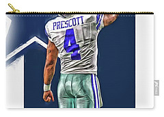 Dak Prescott Dallas Cowboys Oil Art Series 2 Carry-all Pouch