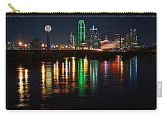 Carry-all Pouch featuring the photograph Dallas At Night by Kathy Churchman