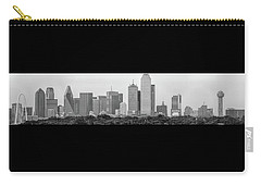 Dallas In Black And White Carry-all Pouch by Jonathan Davison