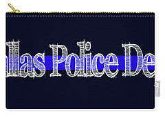 Dallas Police Dept. Blue Line Mug Carry-all Pouch