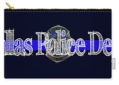 Dallas Police Dept. Blue Line Mug W Badge Image Carry-all Pouch