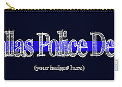 Dallas Police Dept. W Badge No. Carry-all Pouch