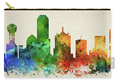 Dallas Skyline Panorama Ustxda-pa03 Carry-all Pouch