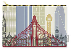 Dallas Skyline Poster Carry-all Pouch by Pablo Romero