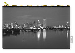 Dallas Skyline Trinity Black And White Carry-all Pouch