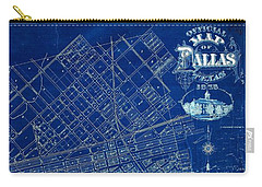 Dallas Texas Official 1875 City Map Blueprint Butterfield And Rundlett Carry-all Pouch