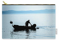 Dalmatian Coast Fisherman Silhouette, Croatia Carry-all Pouch