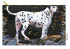 Dalmatian On The Rocks Carry-all Pouch
