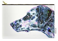 Carry-all Pouch featuring the painting Dalmatian by Zaira Dzhaubaeva