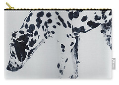 Carry-all Pouch featuring the painting Dalmation by John Neeve