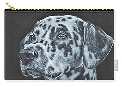 Carry-all Pouch featuring the painting Dalmation Portrait by John Neeve