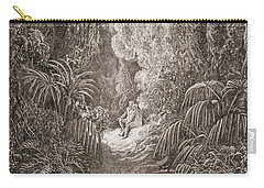 Adam And Eve   Illustration From Paradise Lost By John Milton Carry-all Pouch