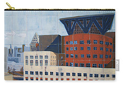 Carry-all Pouch featuring the painting Dam Public Library by Erin Fickert-Rowland