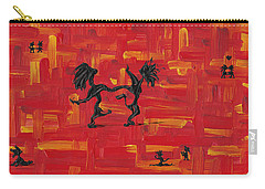 Carry-all Pouch featuring the painting Dance Art Creation 3d9 by Manuel Sueess