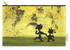 Carry-all Pouch featuring the painting Dance Art Dancing Couple 147 by Manuel Sueess