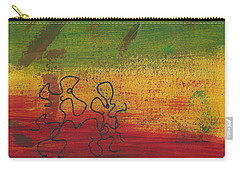 Carry-all Pouch featuring the painting Dance Art Dancing Couple 28b by Manuel Sueess