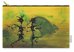 Carry-all Pouch featuring the painting Dance Art Dancing Couple Ix by Manuel Sueess