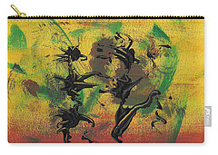Carry-all Pouch featuring the painting Dance Art Dancing Couple Xi by Manuel Sueess