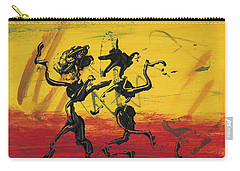 Carry-all Pouch featuring the painting Dance Art Dancing Couple Xii by Manuel Sueess