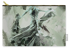 Carry-all Pouch featuring the painting Dance Flamenco Art  by Gull G