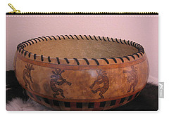Dance Of The Kokopelli's Carry-all Pouch by Barbara Prestridge