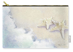 Carry-all Pouch featuring the painting Dance Of The Sea - Knobby Starfish Impressionstic by Audrey Jeanne Roberts