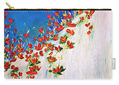Carry-all Pouch featuring the painting  Dance Of The Spring by Teresa Wegrzyn