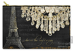 Carry-all Pouch featuring the mixed media Dance The Night Away 1 by Audrey Jeanne Roberts
