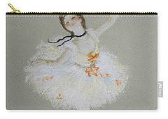 Carry-all Pouch featuring the pastel Dancer by Marna Edwards Flavell