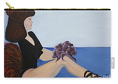 Carry-all Pouch featuring the painting Dancer With Calla Lillies by Jolanta Anna Karolska
