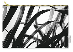 Carry-all Pouch featuring the photograph Dancing Bamboo Black And White by Rebecca Harman