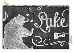 Dancing Bear Lake Rustic Cabin Sign Carry-all Pouch