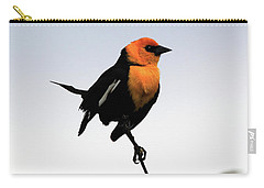 Carry-all Pouch featuring the photograph Dancing Blackbird by Shane Bechler