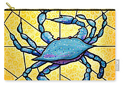 Dancing Blue Crab 4 Carry-all Pouch by Jim Harris