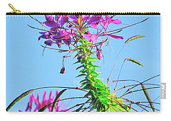 Carry-all Pouch featuring the photograph Dancing Cleome by Debbie Stahre