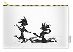 Carry-all Pouch featuring the painting Dancing Couple 9 by Manuel Sueess