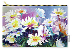 Carry-all Pouch featuring the painting Dancing Daisies by Kathy Braud